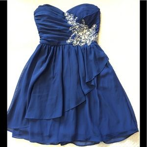 Beautiful blue embellished dress homecoming